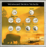 """Frosted 6.5"""" x 6.5"""" Case for 2004-2005 Commemorative Nickels (10 Holes)"""