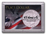 "Frosted 2"" x 3"" Case for Peace Dollars (1 Hole)"