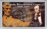 "Frosted 3"" x 5"" Case for Lincoln Bicentennial Cents (5 Holes)"