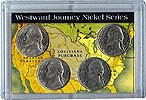 """Frosted 2"""" x 3"""" Case for 2004 Commemorative Nickels (4 Holes)"""