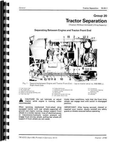 John Deere 2140 Tractor Service Manual