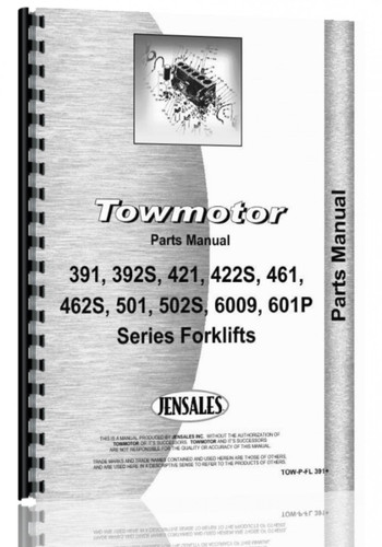 Towmotor Forklift Parts Manual