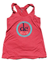 Dang Chick logo red tank top by Dang Chicks
