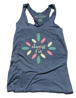 Dang Fit raw edge indigo tank by Dang Chicks