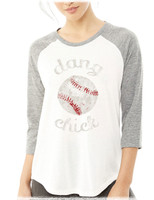 Dang Baseball Chick raglan tee by Dang Chicks