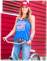 Dang Homegrown blue flowy tank top by Dang Chicks
