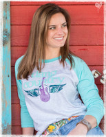 Dang Country Raglan tee by Dang Chicks