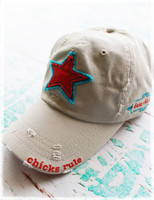 Chicks rule! embroidered baseball hats by Dang Chicks