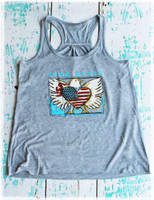 Dang Proud Eagle Tank Top by Dang Chicks