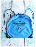 "Soft 14"" x 16"" blue cinch bag by Dang Chicks"