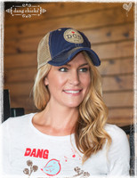 Blue trucker hats by Dang Chicks