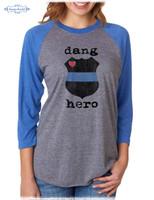 Dang Hero raglan tee by Dang Chicks