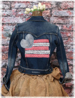 Repurposed Blue Denim Jacket by Dang Chicks Artisans