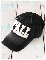 Hey Y'all black baseball hat by Dang Chicks