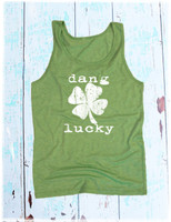 Green Dang Lucky Tank Top by Dang Chicks