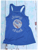 Dang Baseball Chick tank top by Dang Chicks