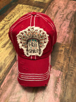 Brick Red Free Spirit hat