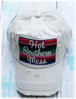 Cream Hot Southern Mess Baseball Hat