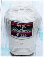 Cream Hot Southern Mess Baseball Hat