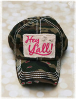 Hey Yall Camo Baseball Hat by Dang Chicks
