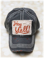 Hey Yall Dark Blue Baseball Hat by Dang Chicks