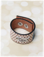 Land Of Free Stamped Leather Cuff by Dang Chicks