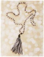 Handmade Gray Tassel Drop Necklace 2 by Dang Chicks