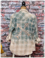 Repurposed Sage Flannel by Dang Chicks Artisans