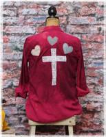 Repurposed Flannel Red Cross by Dang Chicks Artisans