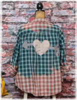 Repurposed Flannel Green Cupid by Dang Chicks Artisans