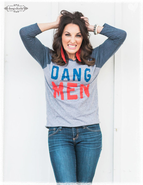 Dang Men raglan tee by Dang Chicks