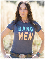 Dang Men charcoal burnout tee by Dang Chicks