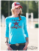 Dang Cowgirl Long Sleeve Fog - by Dang Chicks