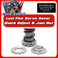 Quick Adjust Servo saver and jam Nuts. (Losi 5ive)