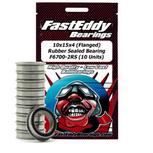 10x15x4 (Flanged) Rubber Sealed Bearing F6700-2RS (10 Units)