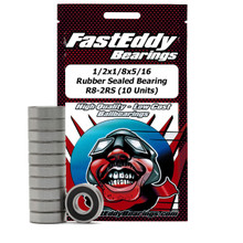 1/2x1/8x5/16 Rubber Sealed Bearing R8-2RS (10 Units)