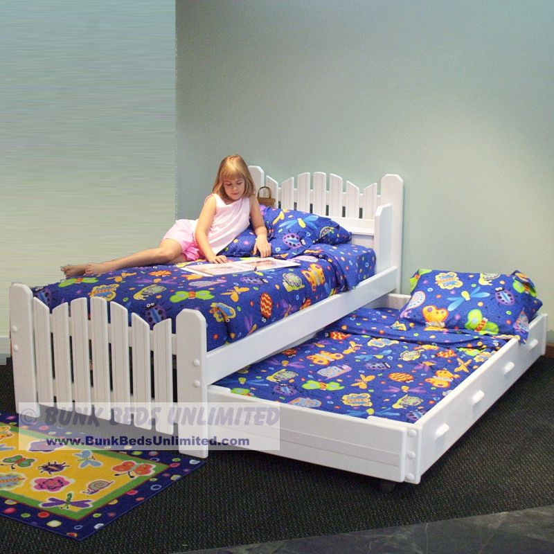Trundle bed plan twin pea patch model for Beds unlimited