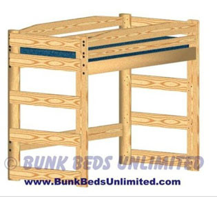 Loft Or Bunk Bed Plan Twin Standard Height