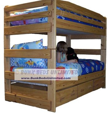 Bunk bed plan stackable twin for Stackable bed plans
