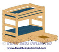 Twin Bunk Bed with Drawers (does not separate)