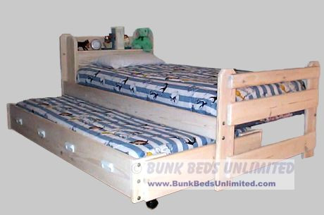 Twin and Trundle Bed Plan - Frontiersman Model