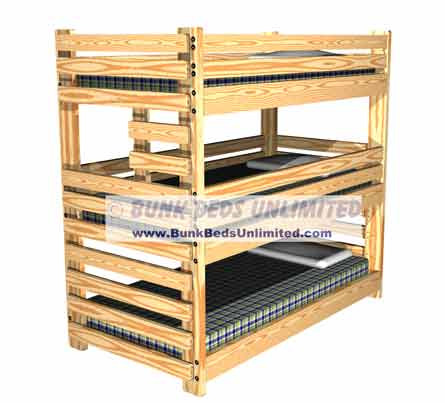 Picture of Triple Bunk Bed Plans Building