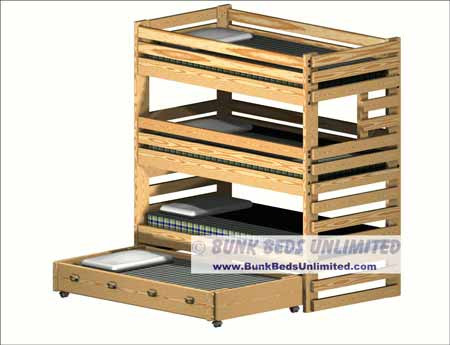 Hardware for Triple Bunk Bed Plans Construction Tall Requires 9 foot ...