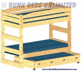 Bunk Bed Stackable with Trundle Bed