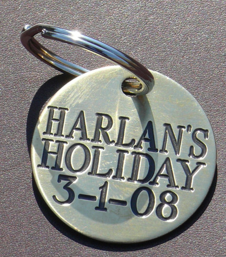 Engraved Brass Foal Tag - Halter Tags