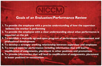"""Goals of an Evaluation/Performance Review"" Poster"