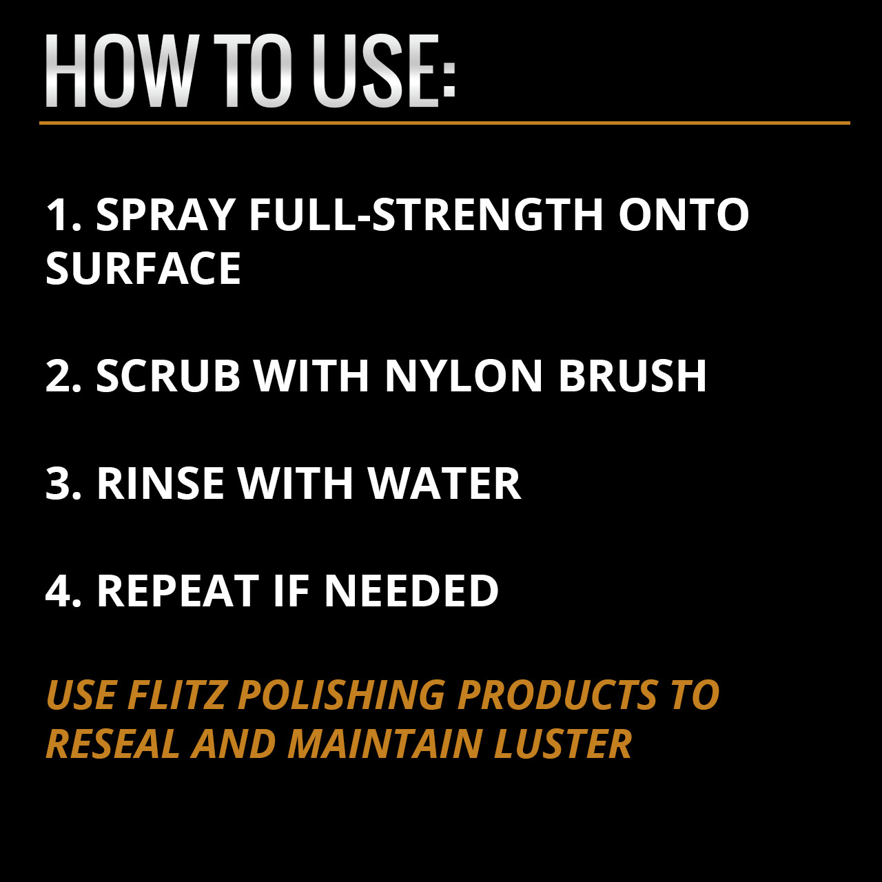 How to use Flitz Metal Pre-Clean products