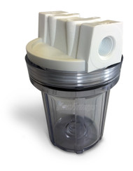 "4.5"" Clear Inlet Trap, Sump, No Insert"