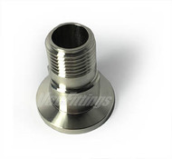 "NW 40 to 1/2"" Male NPT Stainless Steel Adapter"