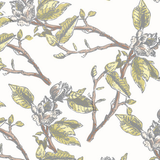 """Magnolia Branch"" Patterned Paper, 10 pack"